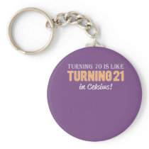 Funny Mens 70th birthday gift Turning 70 is only Keychain