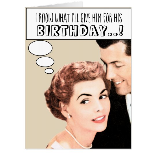 Funny Mens Birthday Humor Retro Vintage Custom Card