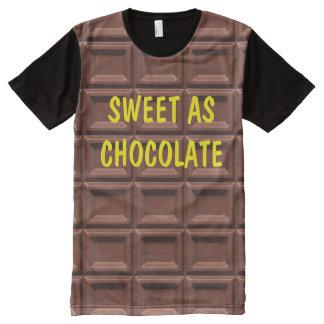 Funny Men's Chocolate Theme All-Over-Print Shirt