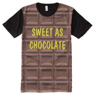 Funny Men's Chocolate Theme All-Over Print T-shirt
