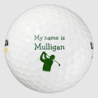 Funny Men's Golf Balls