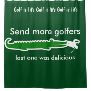 Funny Mens Golf Shower Curtains