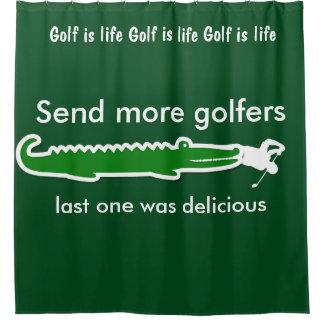 Funny Men's Golf Shower Curtains