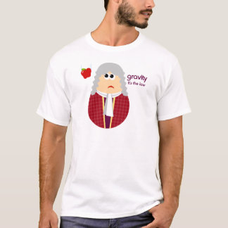 Funny Mens Isaac Newton Tshirt