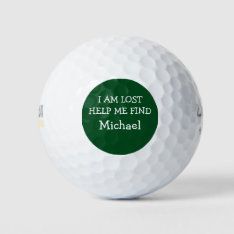 Funny Men's Lost Golf Balls at Zazzle