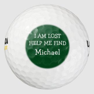 Funny Men's Lost Golf Balls Pack Of Golf Balls