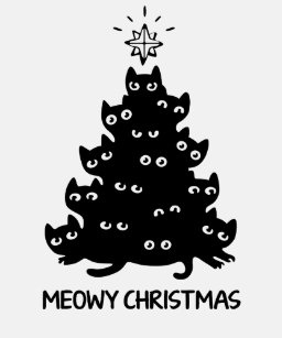 57c4d8d05 Cat Christmas Tree T-Shirts - T-Shirt Design & Printing | Zazzle