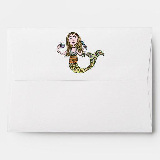 Funny Mermaid Envelope