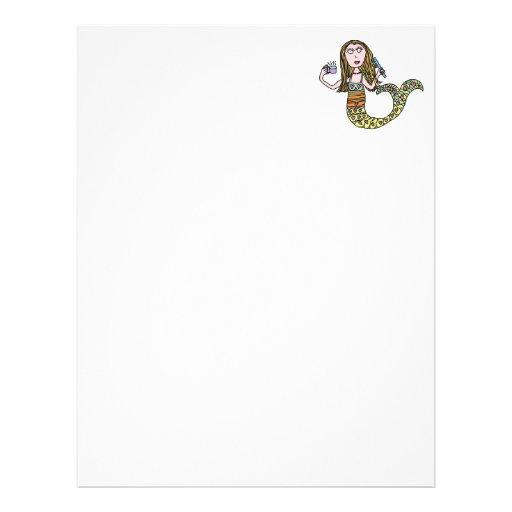 Funny Mermaid Customized Letterhead