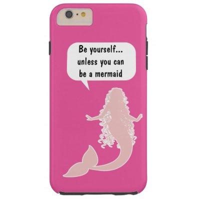 Funny Mermaid Theme Tough iPhone 6 Plus Case