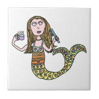 Funny Mermaid Tile
