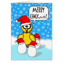Funny Merry Chickmas, Christmas Chicken Card
