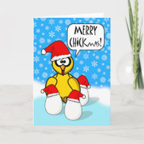 Funny Merry Chickmas, Christmas Chicken Holiday Card