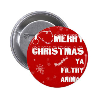 Funny Merry Christmas Button
