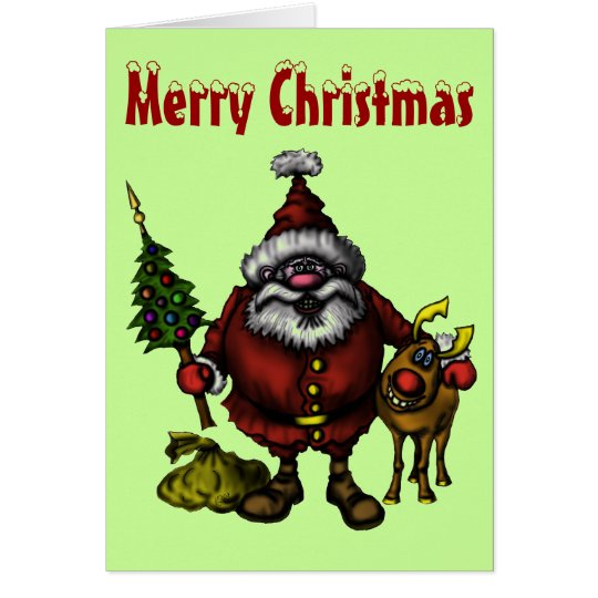 Funny Merry Christmas card design