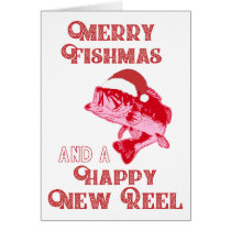 Funny Merry Christmas Fishing Cards