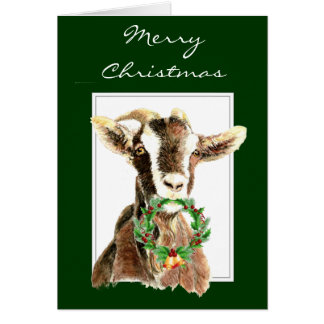 Funny Merry Christmas from Old Goat  Animal, Humor Cards