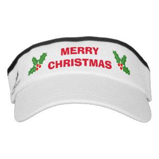 Funny Merry Christmas in July sun visor cap hat