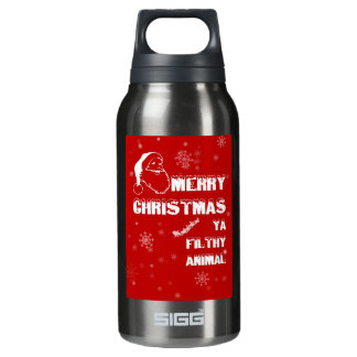 Funny Merry Christmas Insulated Water Bottle