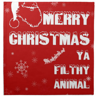 Funny Merry Christmas Napkin