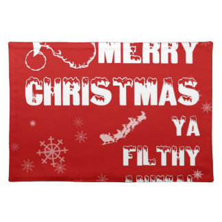 Funny Merry Christmas Place Mats