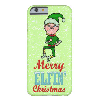 Funny Merry Elfin Christmas Bah Humbug Barely There iPhone 6 Case