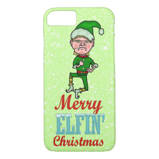 Funny Merry Elfin Christmas Bah Humbug iPhone 7 Case