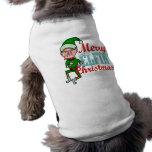 Funny Merry Elfin Christmas Bah Humbug Pet Tee Shirt