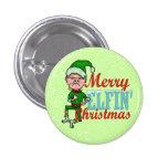 Funny Merry Elfin Christmas Bah Humbug Pins