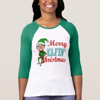 Funny Merry Elfin Christmas Pun T-Shirt