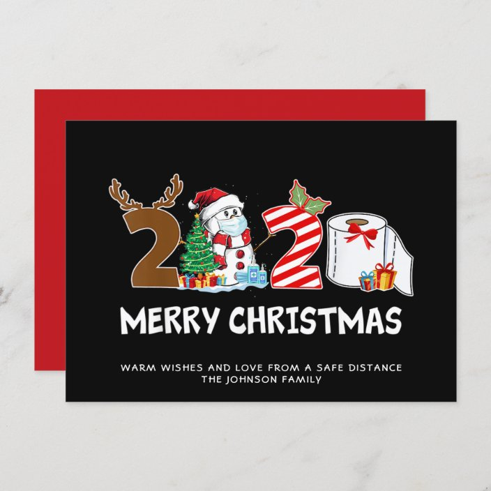 Funny Quarantine Merry Christmas 2020 Christmas Card