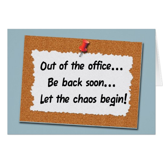 Funny Message Board Bulletin Sign Card