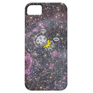 Funny meteor collision in space Cartoon iPhone 5 Cases
