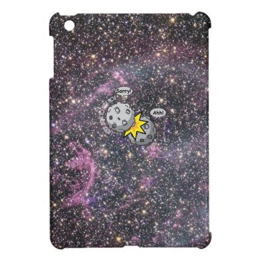 Funny meteor collision in space Cartoon iPad Mini Cover
