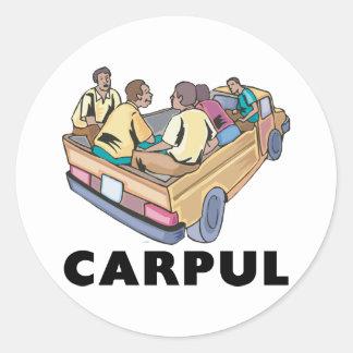 Funny Mexican Carpul Classic Round Sticker