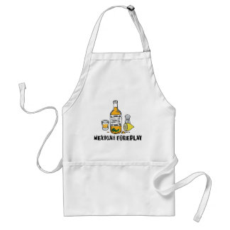Funny Mexican Foreplay Adult Apron