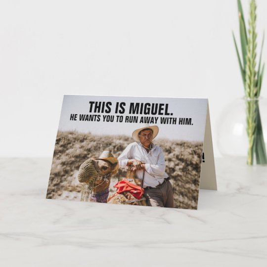 FUNNY MEXICAN GUY BIRTHDAY GREETING CARD