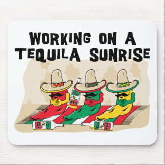 Funny Mexican Tequila Sunrise Mouse Pad