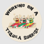 Funny Mexican Tequila Sunrise Round Sticker