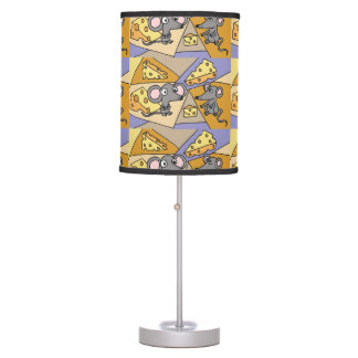 Funny Mice and Cheese Art Abstract Lamp