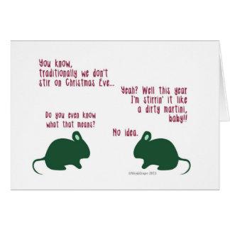 Funny Mice Christmas Card