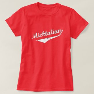 Funny Micktalian Irish Italian Womens T-Shirt