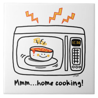 Funny Microwave Home Cooking Tile