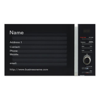 Funny microwave oven Business Card