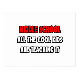 Funny Middle School Teacher Shirts and Gifts Postcard