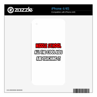 Funny Middle School Teacher Shirts and Gifts Skins For iPhone 4S