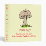 Funny Milestone Birthday Party Scrapbook Binder