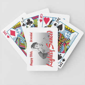 Funny milestone birthday playing cards