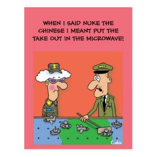Funny Military Army Customizable Postcard