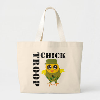 Funny Military Gifts - Troop Chick Jumbo Tote Bag